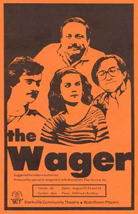 The program cover for The Wager
