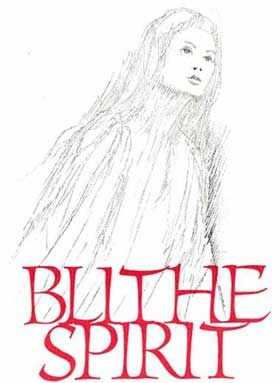 The program cover for Blithe Spirit