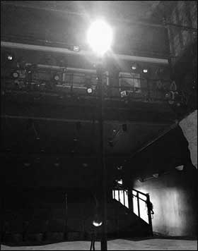 The ghostlight at SCT's Playhouse on Main.